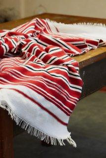 Cloth of Chefchaouen メンディール厚地 レッド×ブラックホワイト