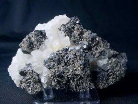 車骨鉱、黄鉄鉱、水晶、黄銅鉱、閃亜鉛鉱(ルーマニア)