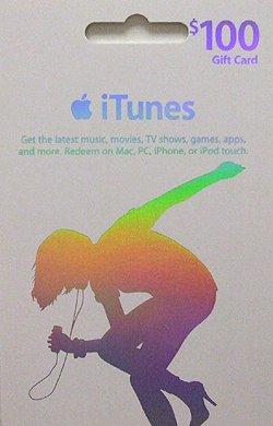 【新登場!】 アメリカ版 iTunes Music Card $100