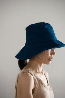 日よけ帽(藍染ガーゼ)