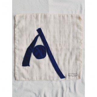 藍染アルファベットA Organic Cotton 3重ガーゼタオル 小