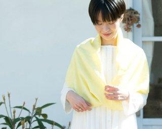 ジャガードシャドウィ/ボタニカルダイOrganic Cottonスヌード【レモングラス】