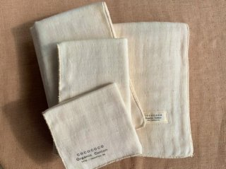 Organic Cotton 3重ガーゼタオル4点セット(生成り色)