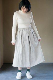 Organic Cotton ネル生地 ロングタックスカート