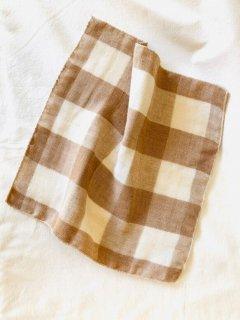 Organic Cotton 3重ガーゼタオル【織り柄チェック】小