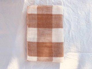 Organic Cotton 3重ガーゼタオル【織り柄チェック】中