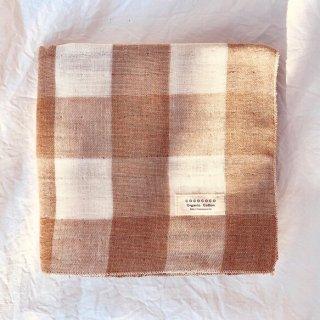 Organic Cotton 3重ガーゼタオル【織り柄チェック】大