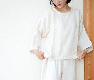 OrganicCotton3重ガーゼ ゆったりプルオーバー【生成り色】