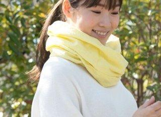 Organic Cottonスヌード【ジャガード織り/レモングラス】