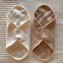 Organic Cotton 6重ガーゼ布ナプキン2枚セット(デイリーライナー)