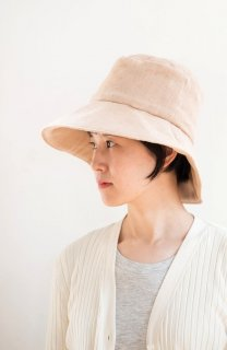 Organic Cotton 日よけ帽子(茶綿ガーゼ)