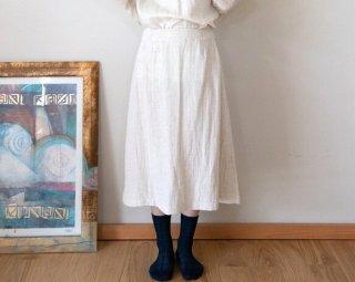 Organiccotton&Linenガーゼ Aラインスカート