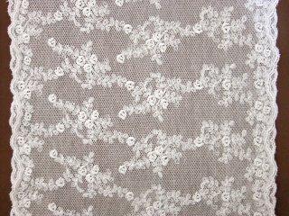 LR04006 綿刺繍チュール 27cm巾