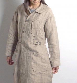 linen st tielocken coat (リネンストライプ タイロッケンコート)