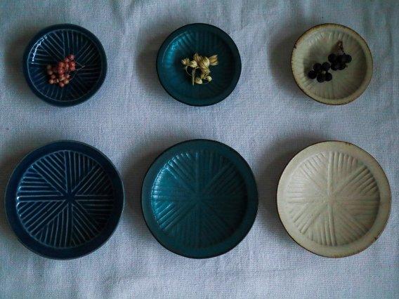 【沖本東】 石臼豆皿、石臼小皿