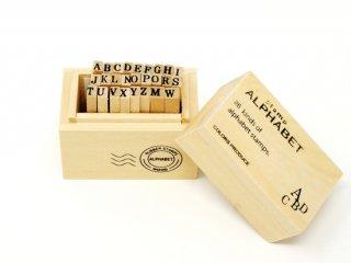 ウッドBOXスタンプ アルファベット/S