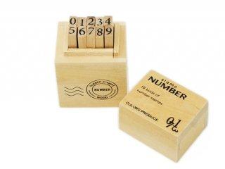 数字スタンプ ウッドBOXスタンプ ナンバー/S