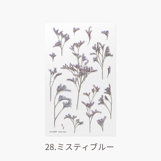 バーベナの押し花シール