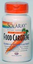 食品由来の天然ベータカロチン(ビタミンA)