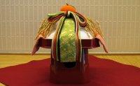 お鏡三方飾り 稲穂 緑熨斗 五色紐飾り