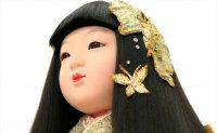 小出松寿作 市松人形 別織 「蝶々」 スワロフスキー