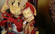 鈴甲子雄山 鎧 1/4  国宝模写・本仕立 「竹虎雀飾り 赤糸威大鎧」