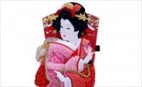匠一好作 10号 総鹿の子絞り 正絹 桃赤桜 -立て飾り-