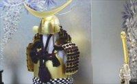 大越忠保 鎧 「彩歌」 真鍮艶消金・紫紐