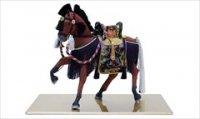 平安道翠 10号 飾馬「奉書栗毛 紫」