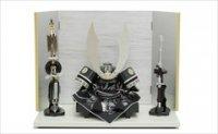 フジキ工芸産業 兜  10号 兜 「銀鼠に百合」