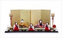 人形の東玉 柳三寸 黄櫨染親王 五人飾