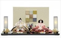 平安道翠作 三五親王 金彩刺繍 「雪輪に桜格子」