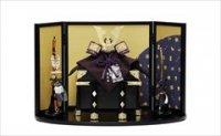 平安武久 8号 兜飾り 紫裾濃「雲龍宝づくし」