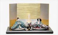 平安道翠作 小三五 親王 正絹 「金銀市松に華金刺繍」