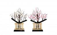 25号 梅正絹 宴  (白とピンク)