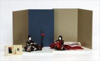 柴田家千代 -葵- 親王飾り 「青藍に葡萄唐草」