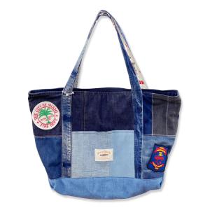 【1点限り】デニムリボーン ボストントートバッグ
