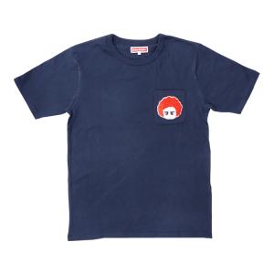 サガラ刺繍ポケット半袖Tシャツ(ネイビー)