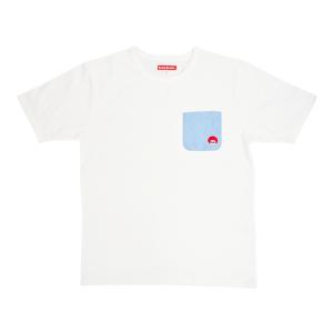 シャンブレーポケット半袖Tシャツ(#70 ホワイト)