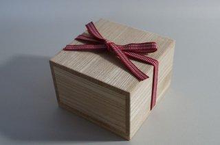 国産桐・桐箱(内のり12.5×7)真田紐付き(一文字)