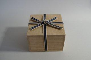 国産桐・四方桟桐箱(内のり12×7〜10)真田紐付