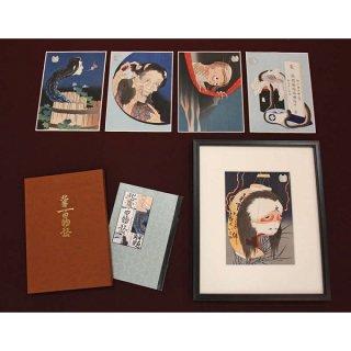 葛飾北斎/百物語 全5図セット(額付)AD-2826(ART-050)