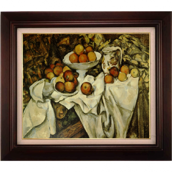 プリハード複製画/ポール・セザンヌ「リンゴとオレンジ」