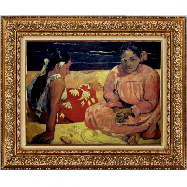 プリハード複製画/ポール・ゴーギャン「タヒチの女(浜辺にて)」