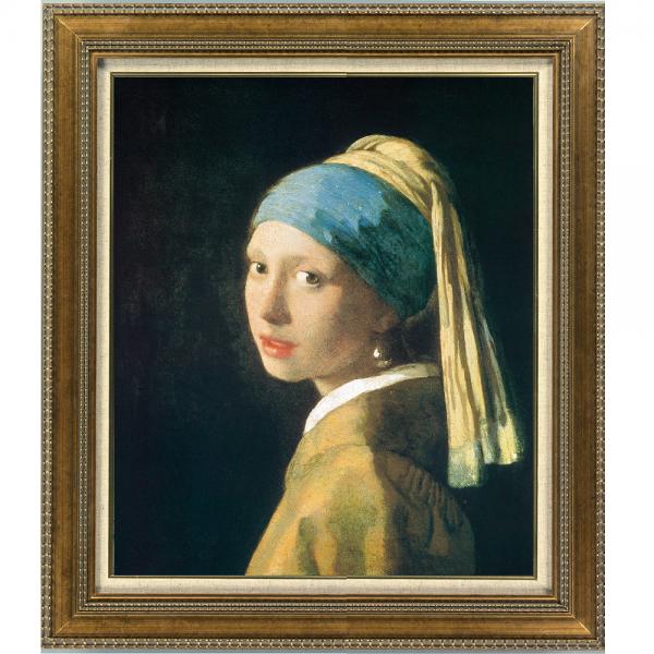 プリハード複製画/ヨハネス・フェルメール「真珠の耳飾りの少女」