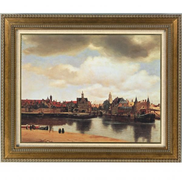 プリハード複製画/ヨハネス・フェルメール「デルフトの眺望」