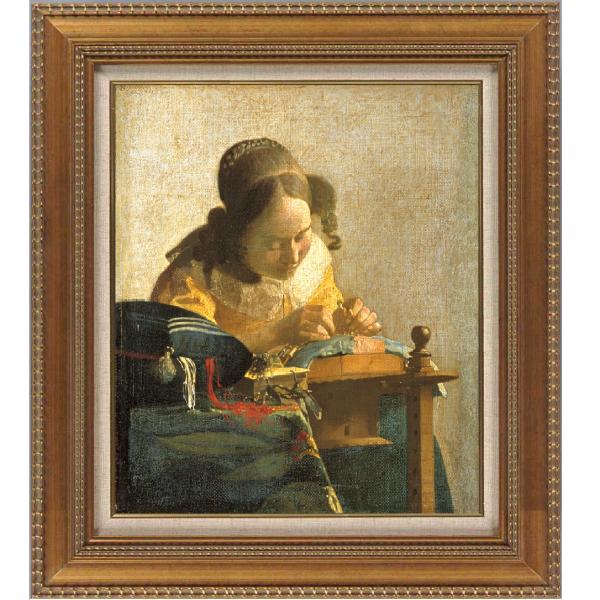 プリハード複製画/ヨハネス・フェルメール「レースを編む女」