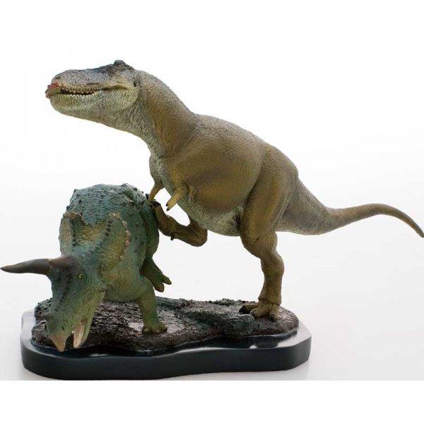 ティラノサウルス&トリケラトプス シーンモデル