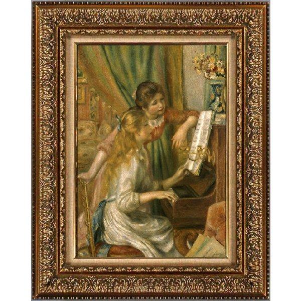 プリハード複製画/ピエール=オーギュスト・ルノワール「ピアノに寄る少女たち」