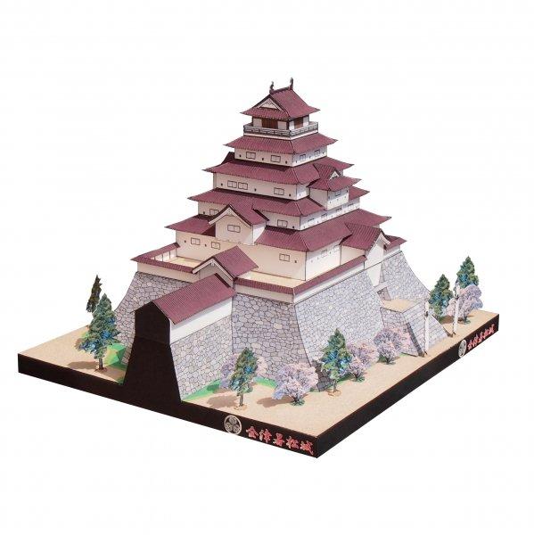 ファセット/ペーパークラフト 1/300 会津若松城